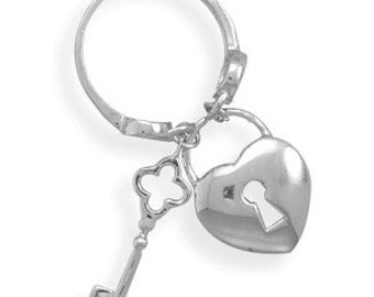 Heart and Key Charm Ring