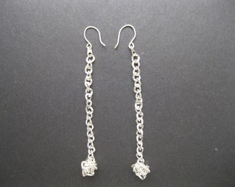 Silver Chain Pierced Earrings