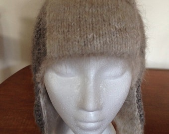 Angora Lined Trapper Hat