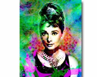 Audrey Hepburn, Audrey Hepburn Art, Hollywood Art, Legend Actress, Pop Art, Breakfast at Tiffanys, Classic Movies, Classic Actress, Audrey