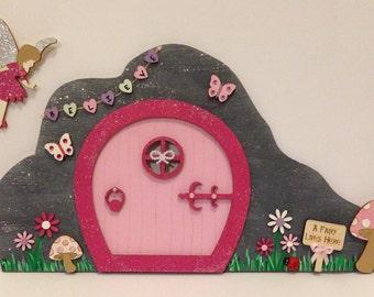 Magical Fairy Door Scene with Fairy
