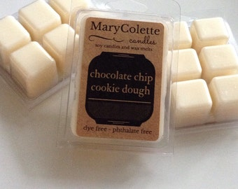 Chocolate Chip Cookie Dough Soy Wax Melt   Chocolate Chip Cookie Scent   Soy Wax Melts   Chocolate Scent