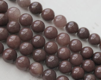 10mm Purple Aventurine, round Beads, earthy beads, purple gemstone beads, full strand, Jewelry Supply,