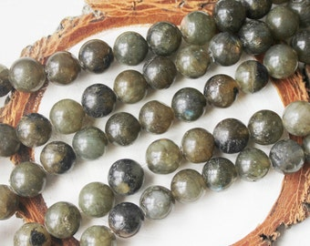 Labradorite Beads, 10mm Round, Gemstone Beads, All Natural Beads, Mala Beads Supply, Natural Gemstone, Round Beads,