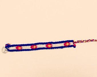 Colorado Flag Bracelet