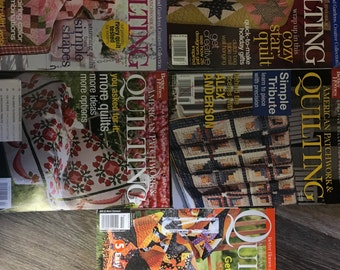 5 American Patchwork and Quilting Magazines - Better Homes and Gardens - June 2003, April 2004,  December 2005, April 2006 and October 2007