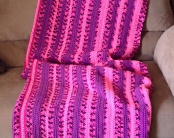 Sweet and Sassy Afghan crochet handcrafted