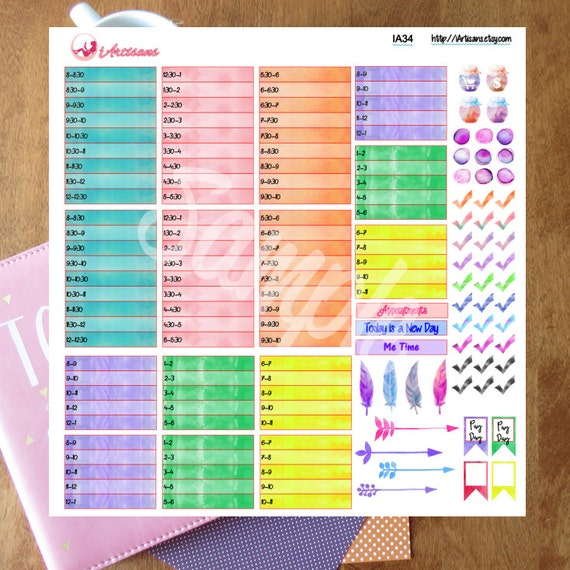 Stickers - Happy Planner - Daily Half Hour Planner Stickers - Daily ...