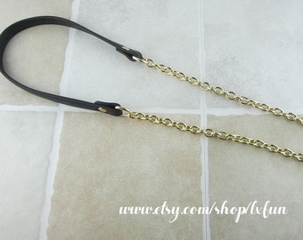 Black Purse Strap Replacement Gold Chain Strap