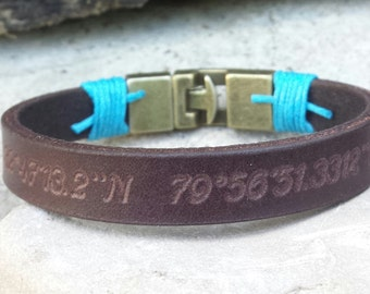 FREE SHIPPING-Men Bracelet,Men Leather Bracelet,Men Personalized Bracelet,Custom Leather Bracelet,Bracelets For Men, Cuff Engrave Bracelet