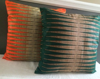 Nkrumah Pencil Ankara - African Print Accent Pillow Cover