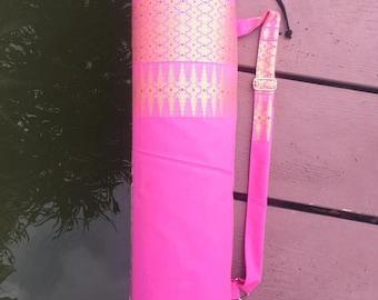 Handmade Thai  Cotton Fabric Yoga Pilates Mat Bag