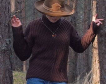 handknitted brown sweater