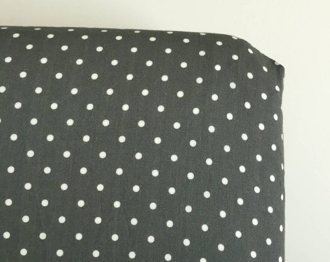 Dark Grey and white dot fitted sheet