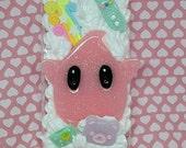 Custom Nintendo Luma inspired decoden phone case kawaii cute lolita fairy kai gamer
