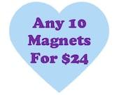 Fridge magnet deal // Ten 1.25 inch ceramic magnets // Ceramic magnet set