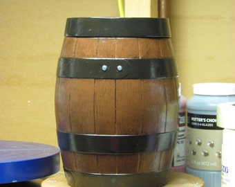 Ceramic Barrel with Removable Lid