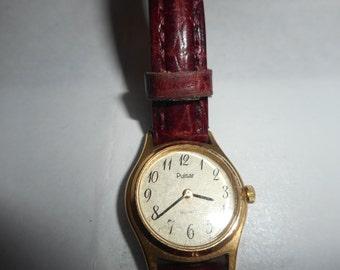 Vintage 1980's Ladies Designer Pulsar Wrist Watch