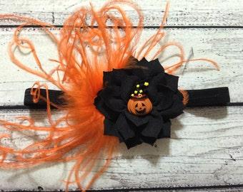 Halloween Pumpkin Headband Halloween Baby Headband Pumpkin Baby Headband Halloween Headbands Fall Headband Baby Headband Pumpkin Headband