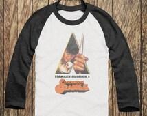 Vintage Style Unisex A Clockwork Orange Droog Printed Raglan Baseball Jersey T Shirt S M L XL