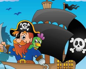 Pirati Libro da Colorare 1