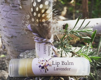 Lavender Lip Balm/Natural/Homemade