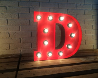 Metal letters light up. Marquee letters. Wall decor sign. Wedding lights.