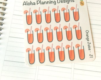 J1 - Orange Juice Stickers