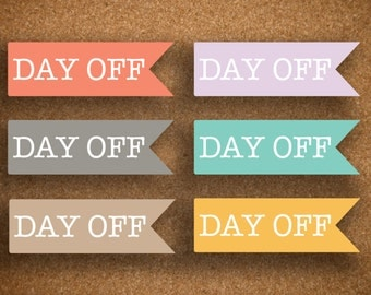 Day Off Flag Planner Stickers for Inkwell Press Planner IWP-FDO1
