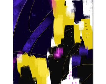 """Abstract 80 """"Gorgeous Night"""" Giclee print"""