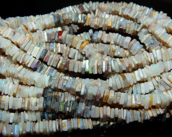 Australian Opal Heishi Beads Smooth Square Shape 100% Natural Gemstone Size 5 mm Approx Code - C116