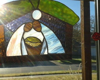 RESERVED  Stained Glass Nativity