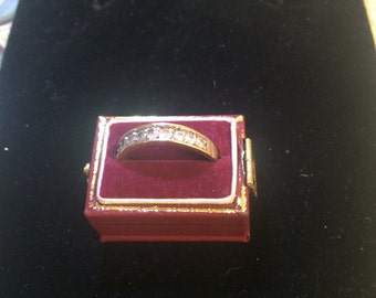 Diamond and 18carat gold ring