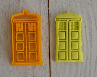 Tardis cookie cutter from Doctor Who