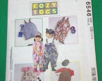 Vintage Pattern McCalls 6546 Cozy Togs Free Shipping