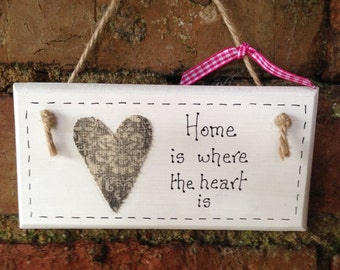 Handcrafted Home sign