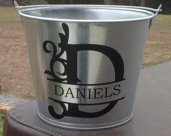 Monogrammed Ice Bucket - Gift For Hostess - Personalized Ice Bucket - Personalized Flower Pot
