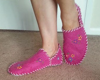 Wool Felt Slippers, Shoes