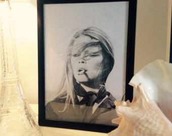 Brigitte Bardot print without frame