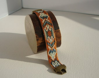 cuff, ethnic, boho chic woven bracelet
