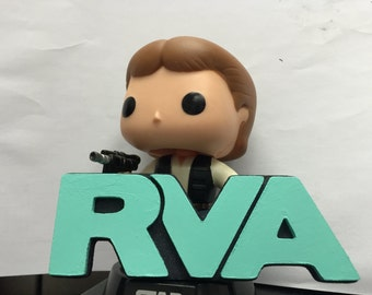 Mini Painted RVA logo with raised letters