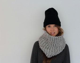 Chunky Knit Snood- Grey