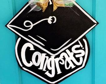 Wooden Graduation Cap Doorhanger