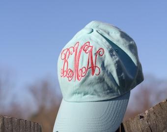 personalized hat- monogramed cap- baseball cap- initial hat