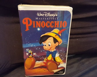 Disney Masterpiece Collection Pinocchio Vhs
