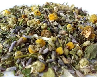Loose Leaf Herbal Tea: LAVENDER | Organic | 2 Sizes