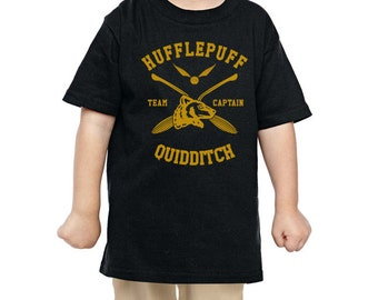 CAPTAIN Huffle Quidditch team Captain on TODDLER tee