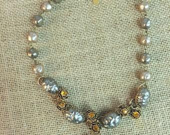 Vintage Miriam Haskell pearls necklace 1950s
