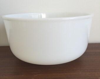 Glasbake - Sunbeam Milk Glass Mixing Bowl