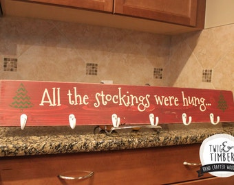 Stocking Hanger - CUSTOM COLORS - Can add Names!